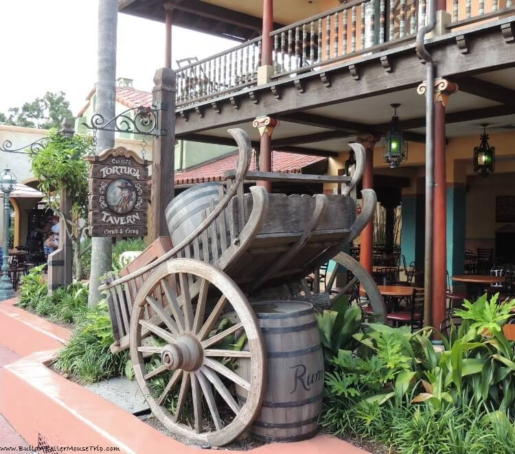 Finding Pirates at Disney World - Tortuga Tavern in Adventureland - Magic Kingdom