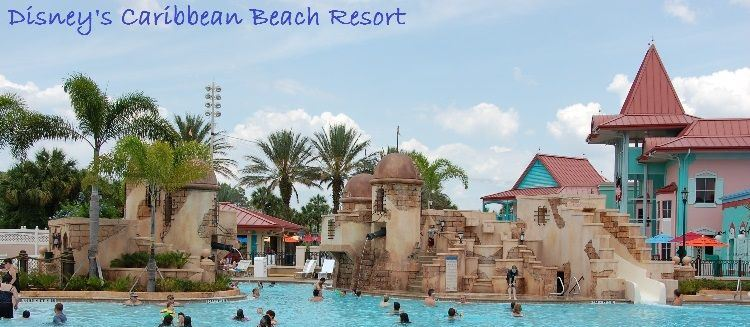 Finding Pirates at Disney World - Pirate fort themed pool at Disney's Caribean Beach Resort - Disney World / Florida