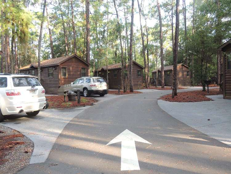 Cabin loop at Disney's Fort Wilderness Resort & Campground