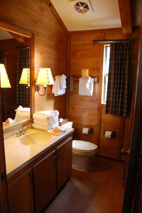 Bathroom in a cabin at Disney's Fort Wilderness Resort and Campground
