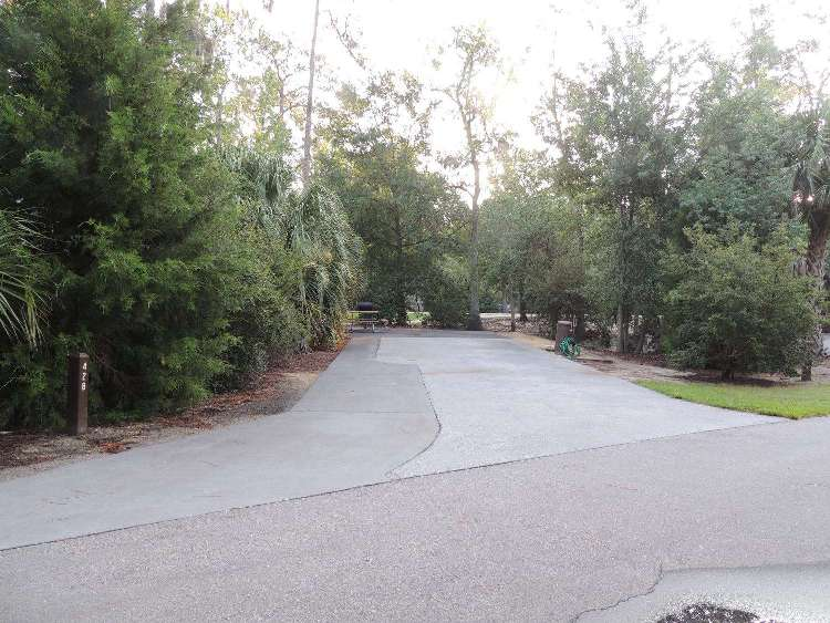 Campsite at Disney's Fort Wilderness Campground at the Walt Disney World Resort in Florida