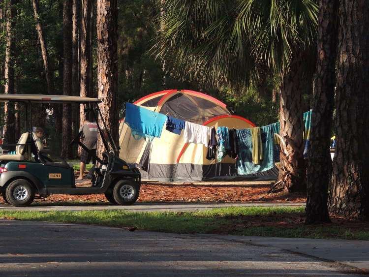 Tent site at Disney's Fort Wilderness Campground / Disney World