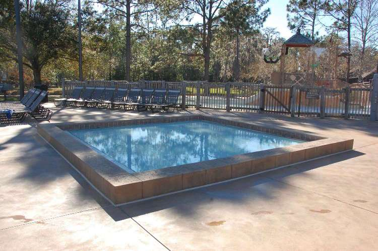 Pool area at Disney's Fort Wilderness Resort & Campground / Disney World.