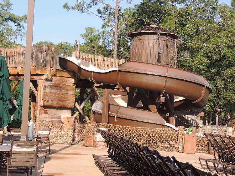 Pool slide at Disney's Fort Wilderness Resort & Campground