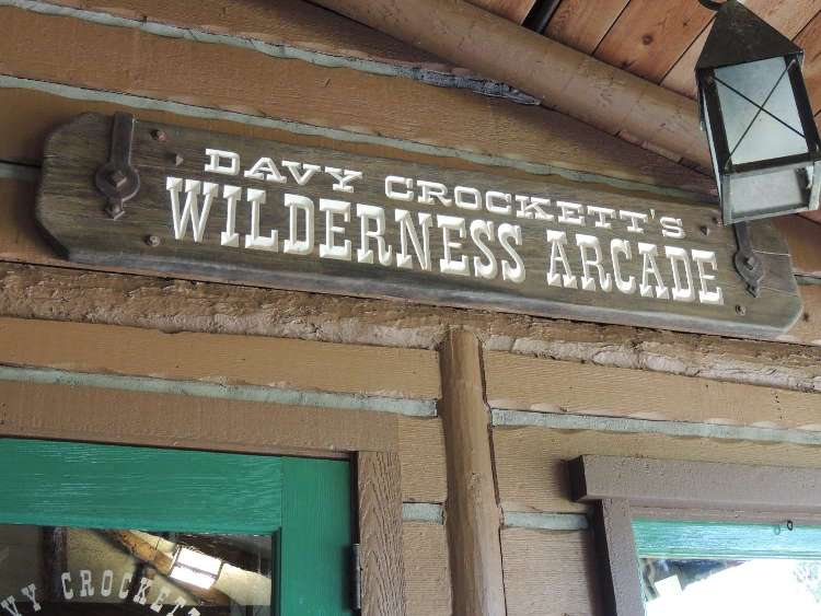 Davy Crockett's Wilderness Arcade at the Disney World campground