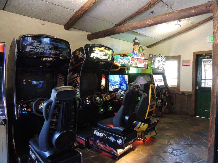 Inside Davy Crockett's Wilderness Arcade at the Disney World campground