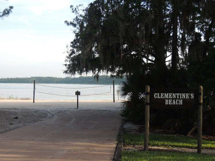 Play some volleyball at Clementines Beach at Disney's Fort Wilderness Resort & Campground