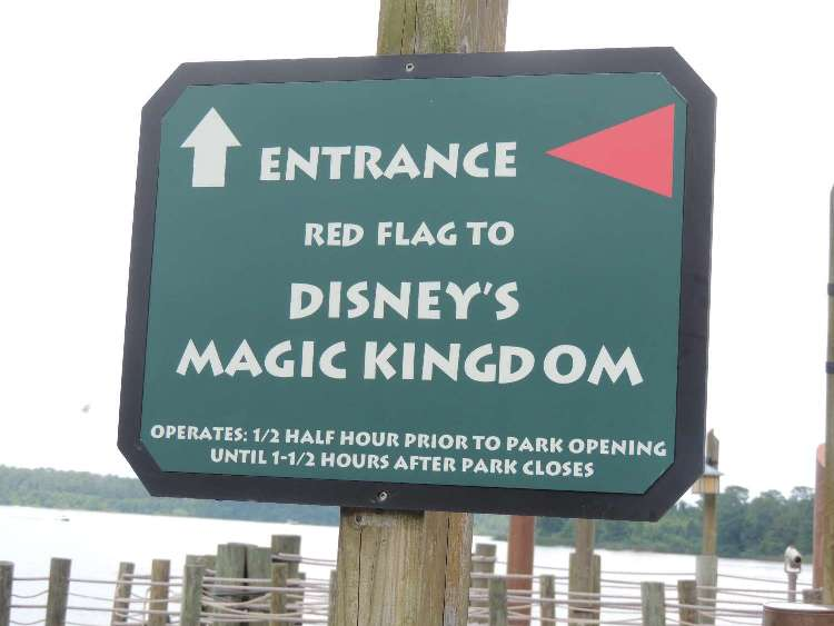 Boat transportation available from Ft. Wilderness to the Magic Kingdom / Disney World
