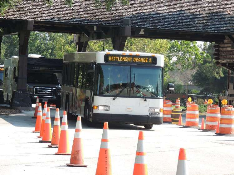 Bus transportation available throughout Disney's Ft. Wilderness and to the Disney World theme parks