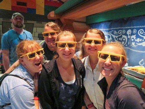 See a 3D movie at Disney World.