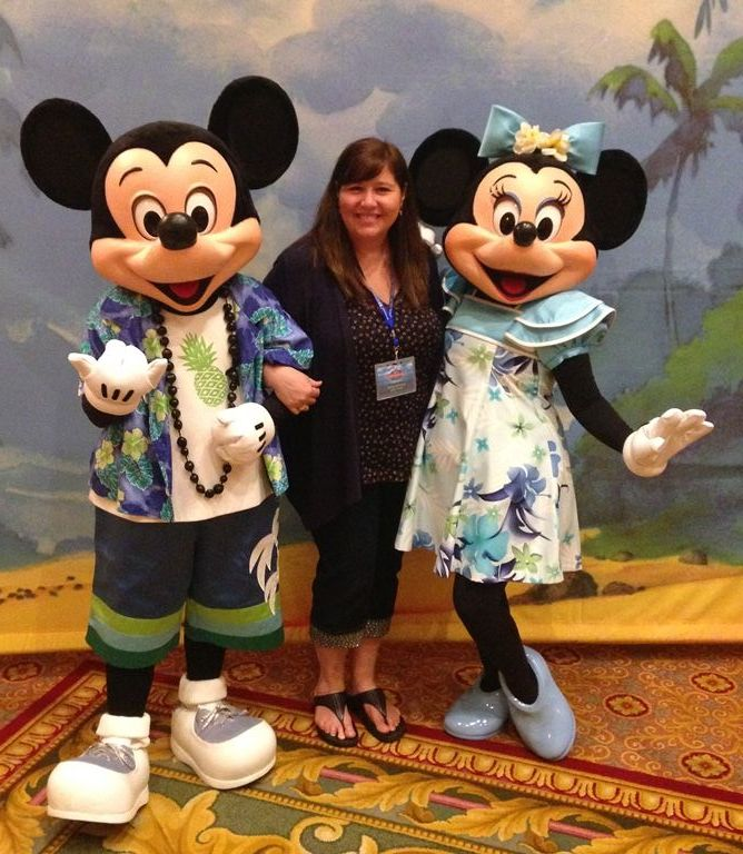 Monica's Disney World Trip Report - Monica with Mickey Mouse and Minnie Mouse