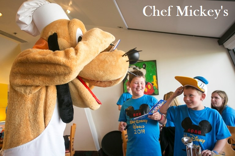 Chef Mickey's at Disney's Contemporary Resort is a great character restaurant for boys and girls.