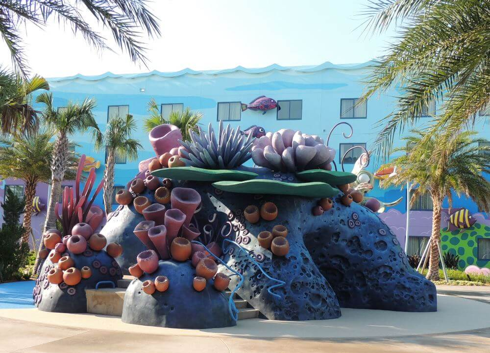 Squirt's Righteous Reef Dry Play area - ONE OF THE BEST CHILDREN'S pools IN THE DISNEY WORLD VALUE RESORT CATEGORY.