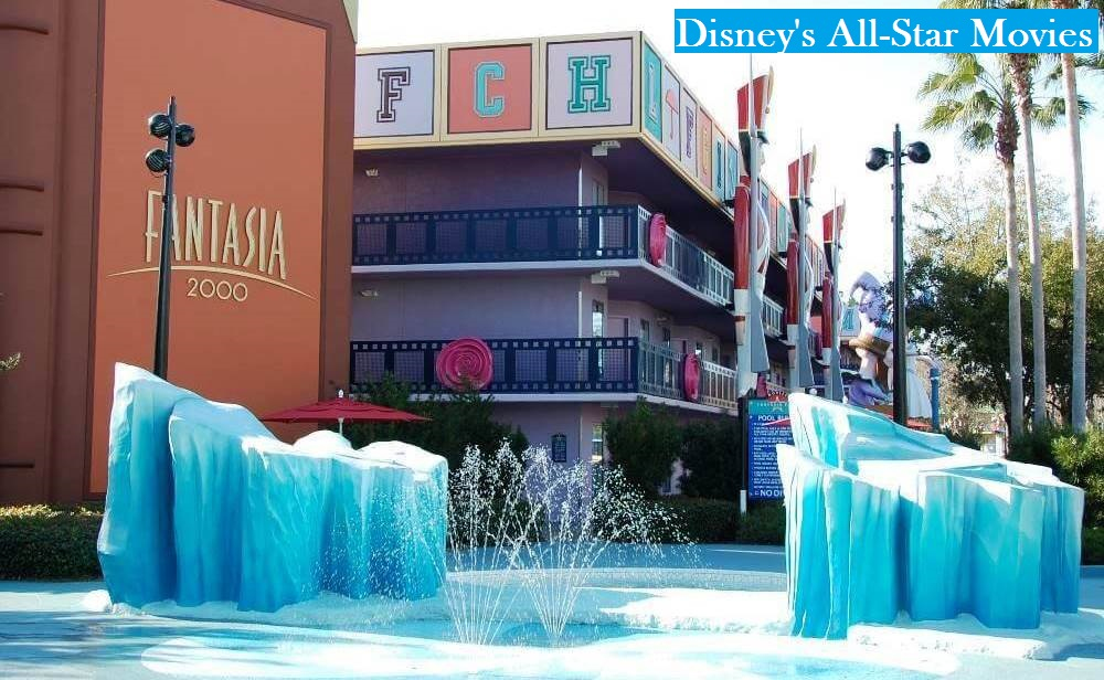 KIDDIE POOL AT DISNEY'S All-Star Movies RESORT - ONE OF THE BEST CHILDREN'S SPLASH ZONES IN THE DISNEY WORLD VALUE RESORT CATEGORY.