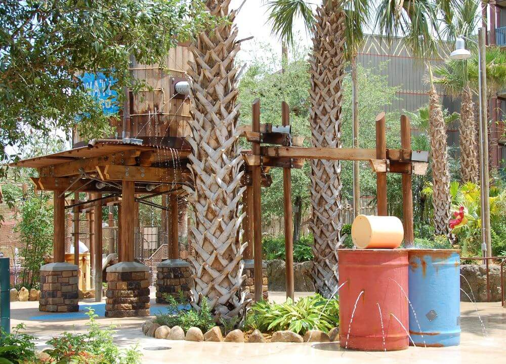 The Departure Zone wet play area in the Samawati Springs pool complex at Disney's Animal Kingdom Lodge - Zidani Village - ONE OF THE BEST SPLASH ZONES OF THE DISNEY WORLD HOTELS, DELUXE RESORT CATEGORY.