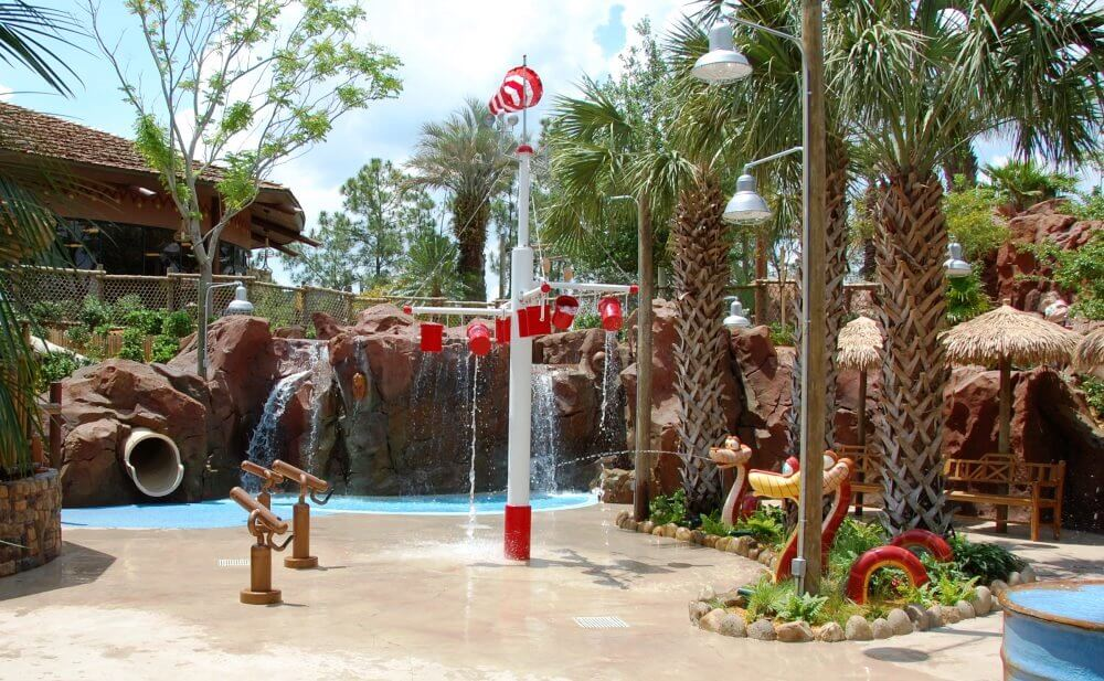 SAMAWATI SPRINGS POOL COMPLEX AT DISNEY'S ANIMAL KINGDOM LODGE - ZIDANI VILLAGE - ONE OF THE BEST SPLASH ZONES OF THE DISNEY WORLD HOTELS, DELUXE RESORT CATEGORY.