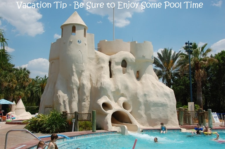 Disney World & Universal Orlando Vacation Tip - Be sure to enjoy some pool time!