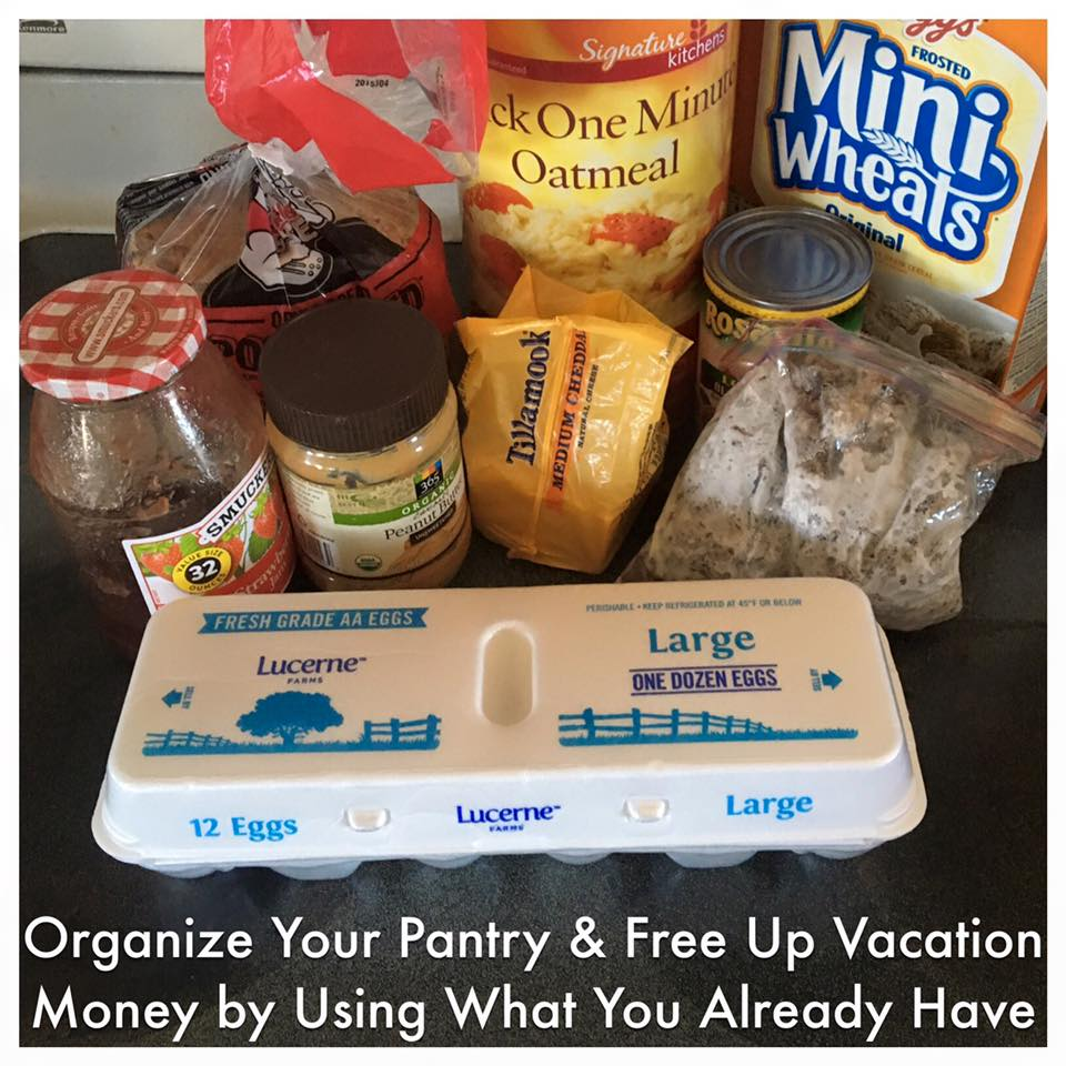 Disney World & Universal Orlando Money Saving Tip - Free up cash from the grocery budget for your trip by using up what you have on hand.