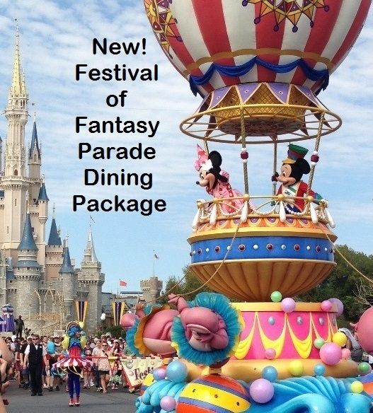 New! Festival of Fantasy Parade Dining Package Introduced at Magic Kingdom