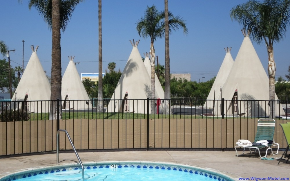 Wigwam Hotel along Route 66 in San Bernadino, California - a great addition to a Disneyland vacation.