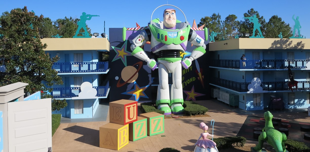 Buzz Lightyear in the Toy Story section  at Disney's All-Star Movies Resort