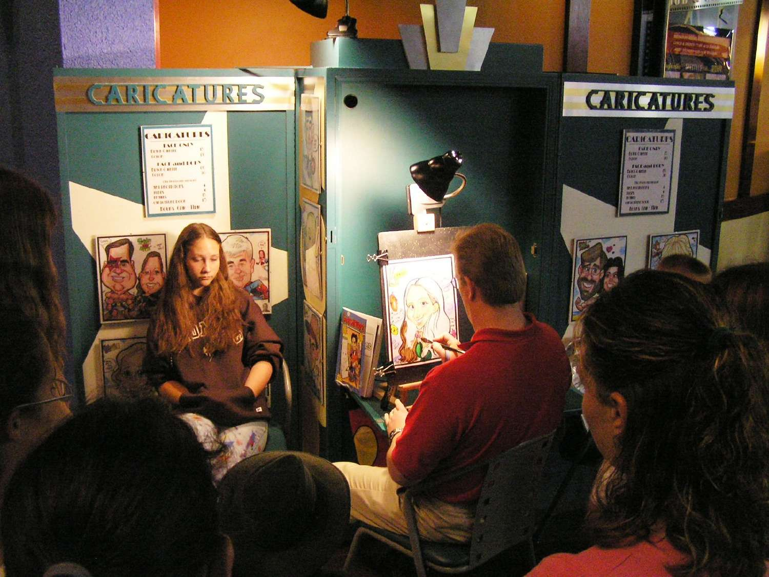 Caricature artist at Disney's All-Star Movies Resort