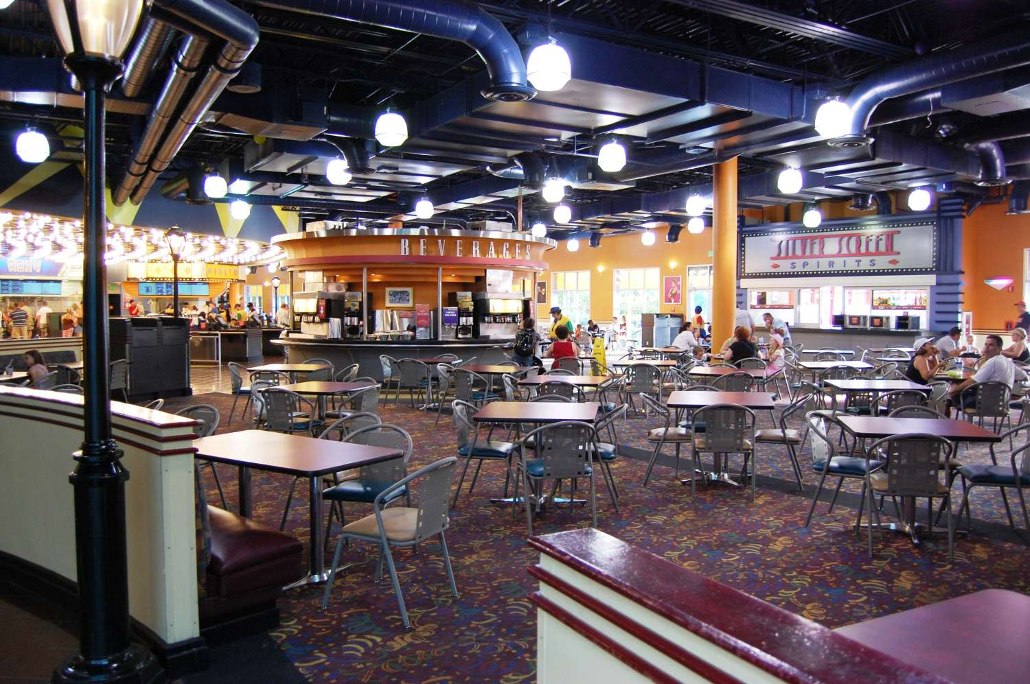 World Premiere Food court dining room at Disney's All-Star Movies Resort