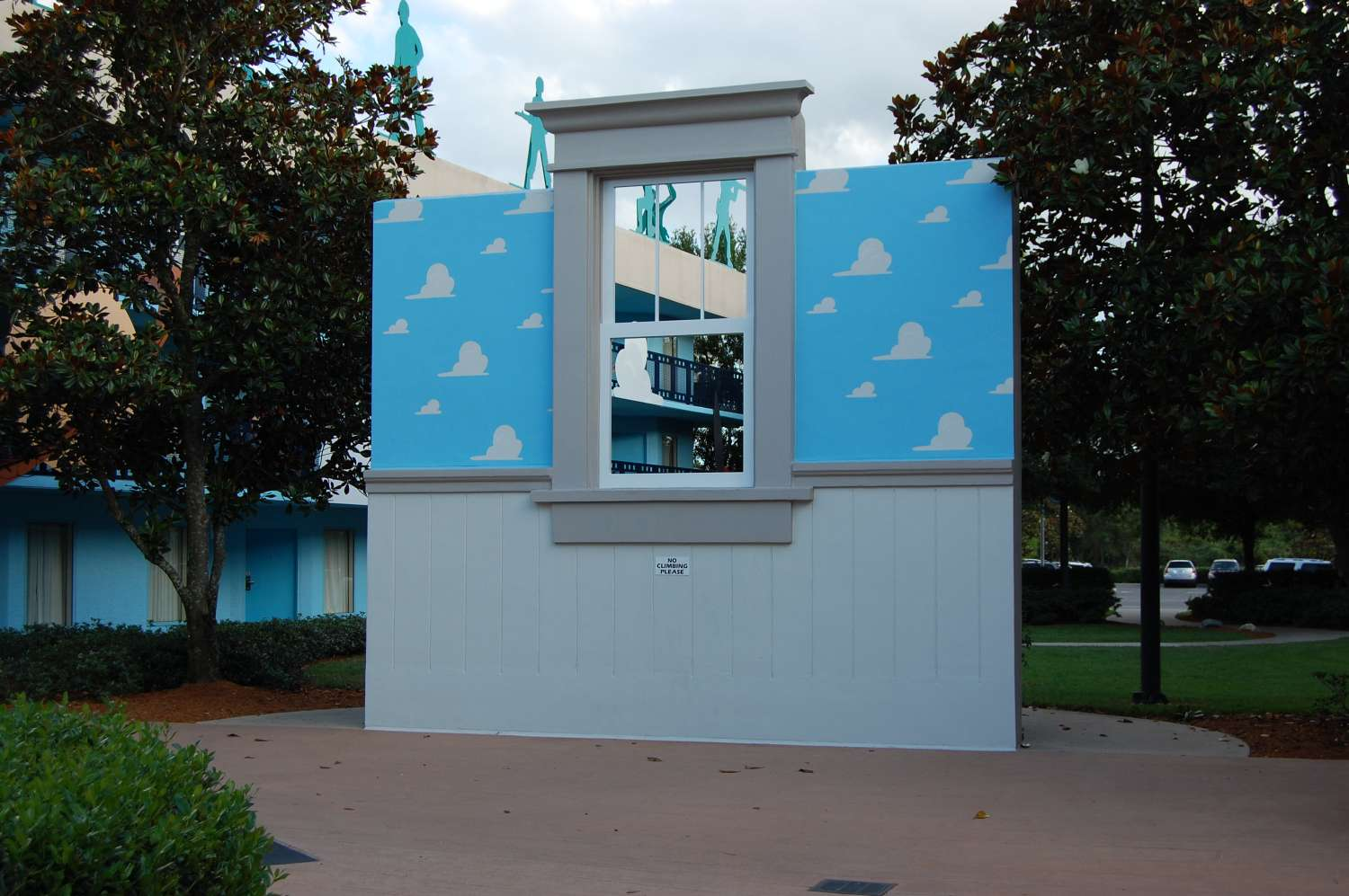 Andy's Room display at the Toy Story Buildings at Disney's All-Star Movies Resort
