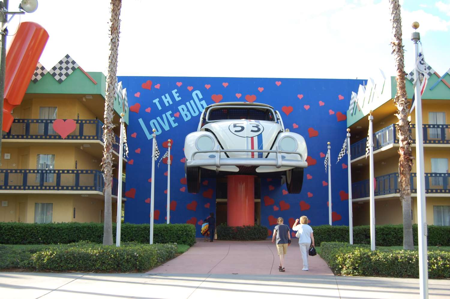 Herbie the Love Bug area of Disney's All-Star Movies Resort / Disney World