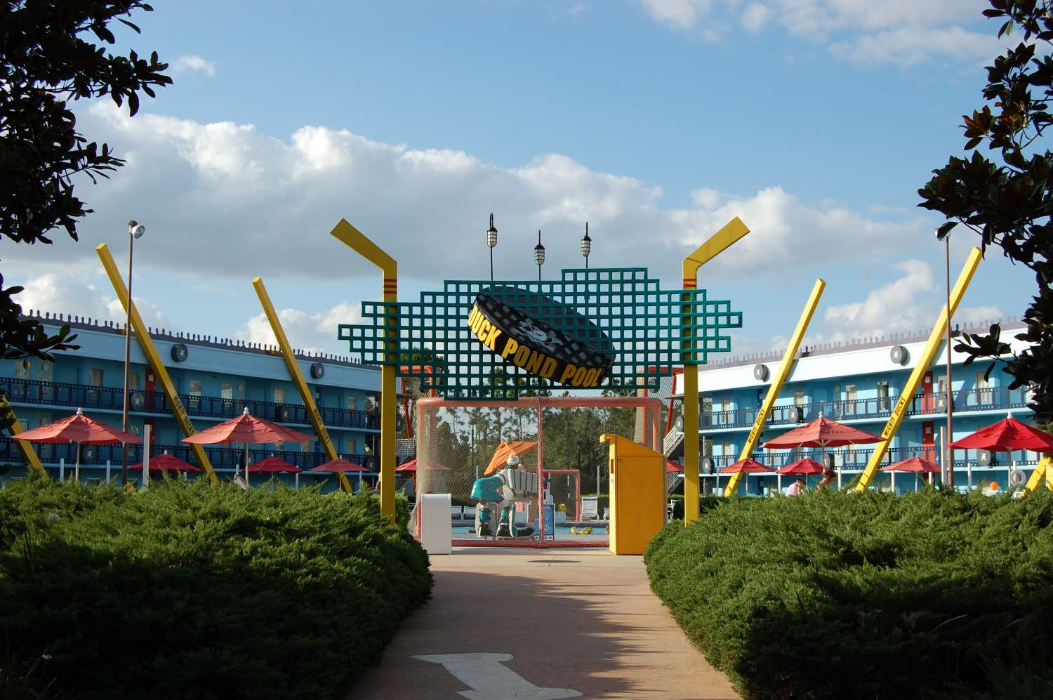 Mighty Duck area of Disney's All-Star Movies Resort / Disney World