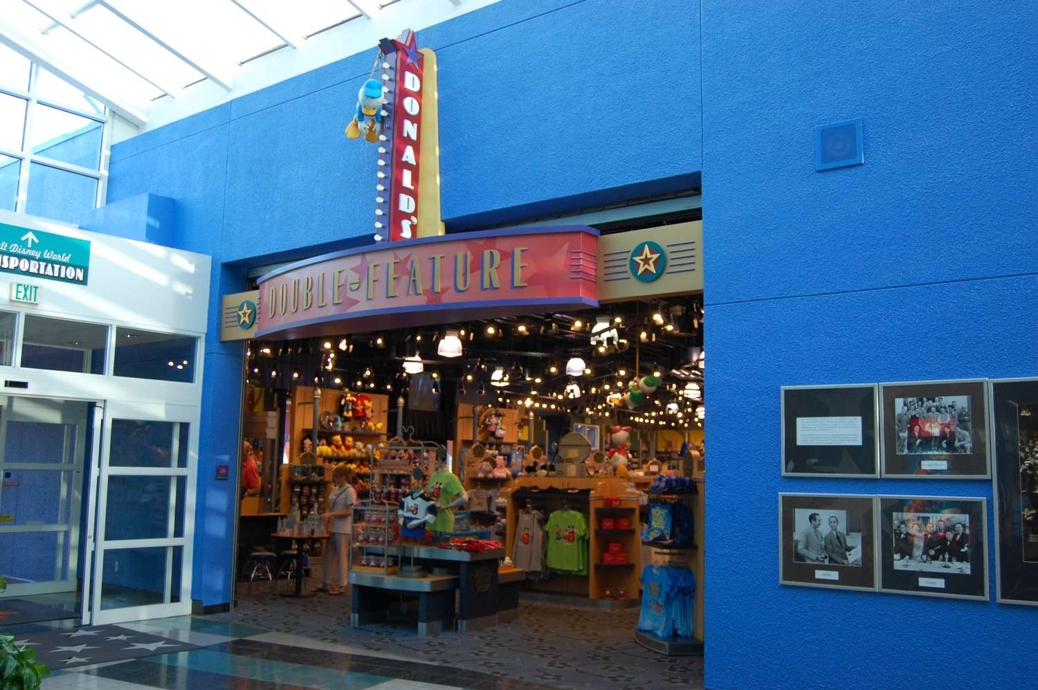 Donald's Double Feature at Disney's All Star Movies resort is the resort gift shop. You can also get sundries and have purchases made in the parks delivered here.