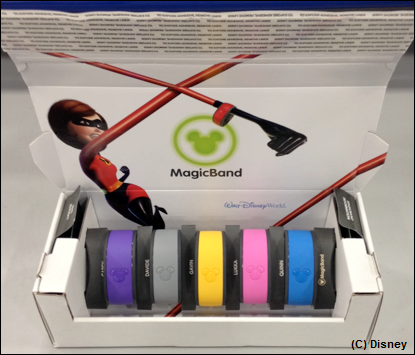 New, fully-recyclable packaging for  MagicBands  from the  Walt Disney Travel Company .