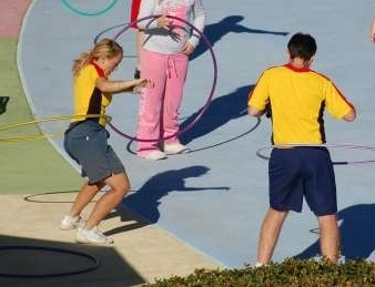 Cast members lead fun pool-side activites at Disney's Pop Century Resort