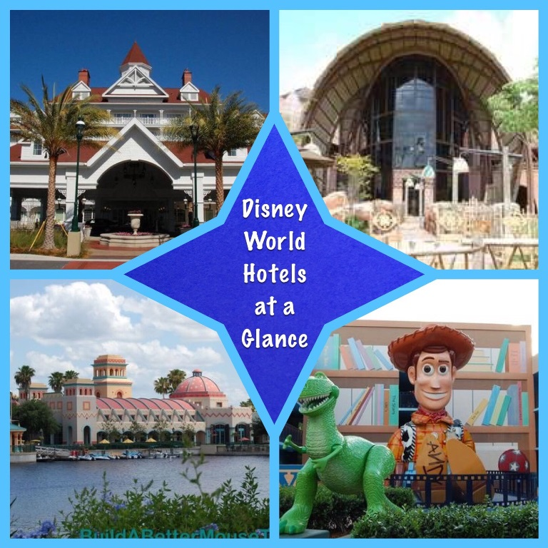 Disney World Vacation Tips - Quick comparison of all the Disney World Resort hotels.