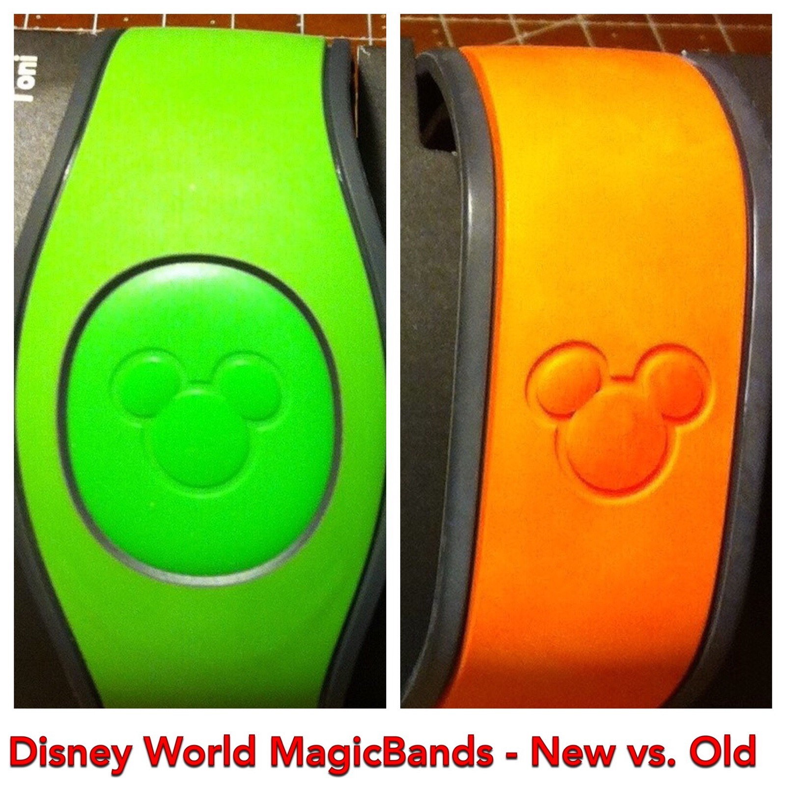"""A Comparison of the the """"New"""" and Old"""" Disney World Magic Bands"""