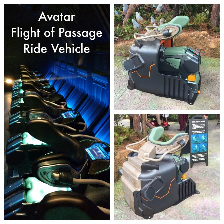 Avatar Flight of Passage ride vehicle at Pandora - The World of Avatar / Disney's Animal Kingdom park / Walt Disney World Resort - Florida.