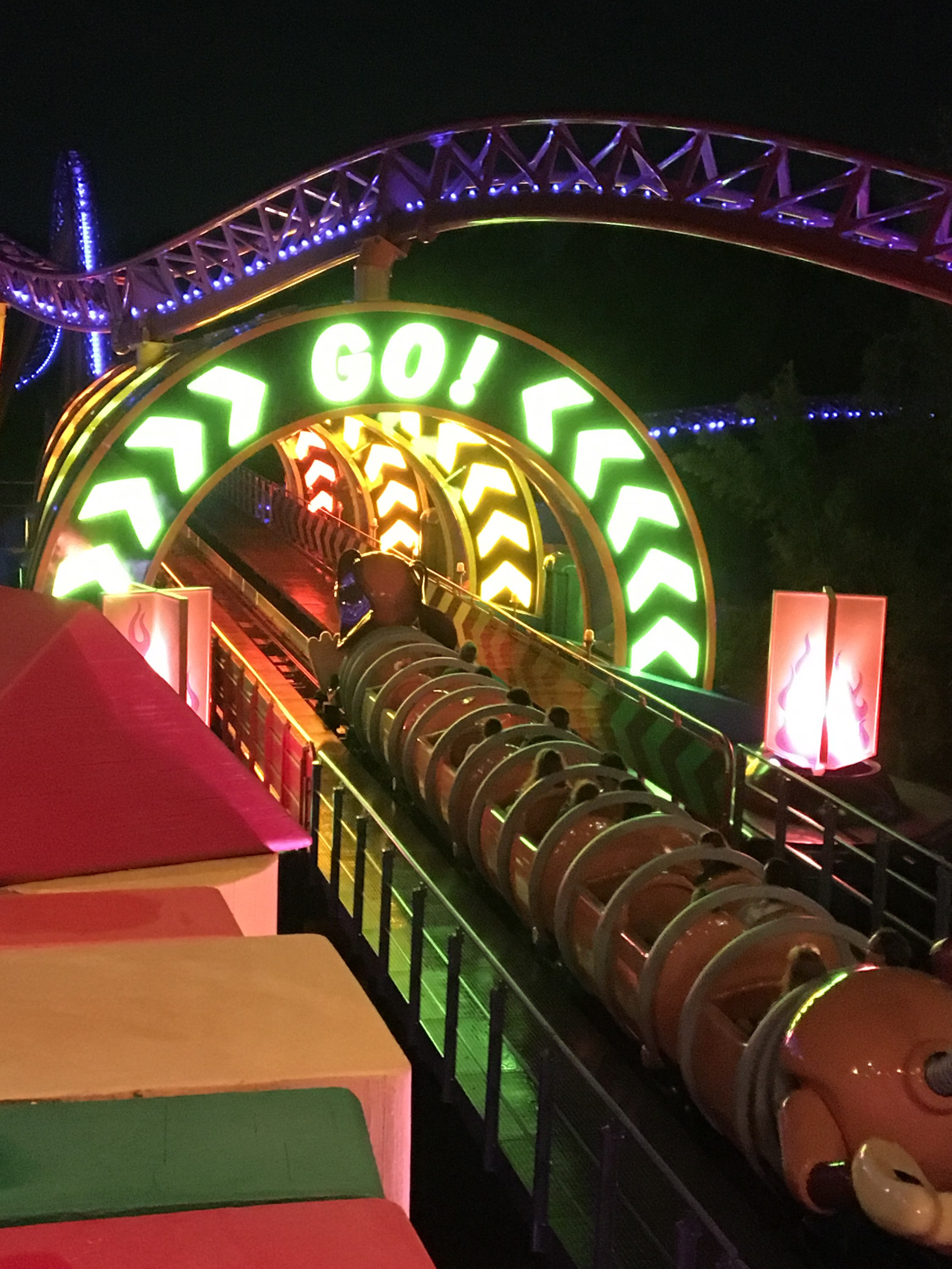 Slinky Dog Dash at Night / Toy Story Land / Disney's Hollywood Studios park / Walt Disney World Resort