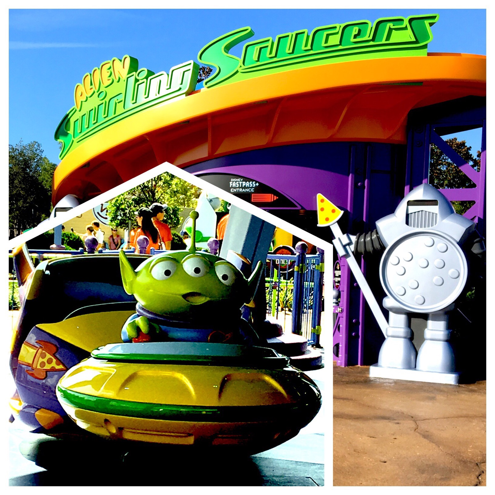 Alien Swirling Saucers at Toy Story Land in Disney's Hollywood Studios / Walt Disney World Resort - Florida.