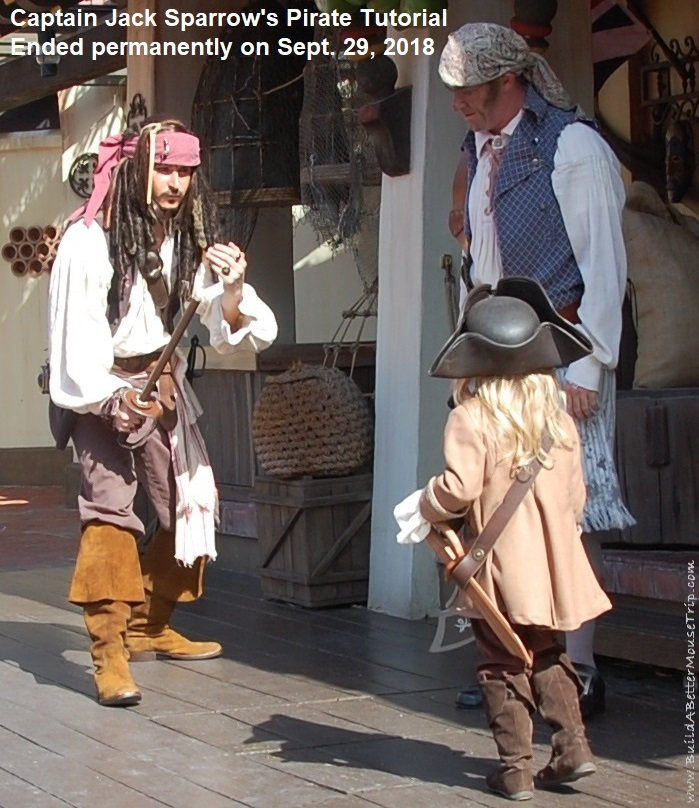 Captain Jack Sparrow's Pirate Tutorial ended permanently on September 29, 2019 / Magic Kingdom - Walt Disney World Resort. #DisneyWorld #MagicKingdom #Disneyparks #Adventureland #PiratesoftheCaribbean #BuildaBetterMouseTrip