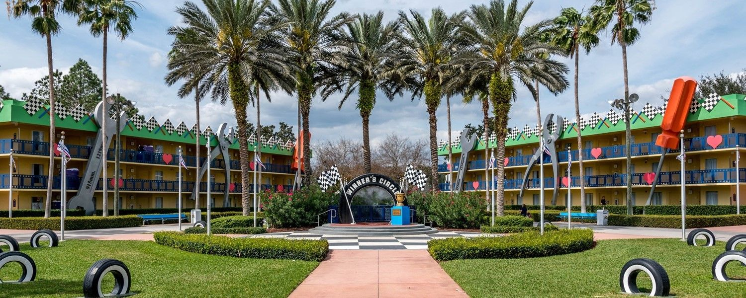 Disney's All Star Movies resort - Picture YOUR group of winners here in the winners cirlce :-)