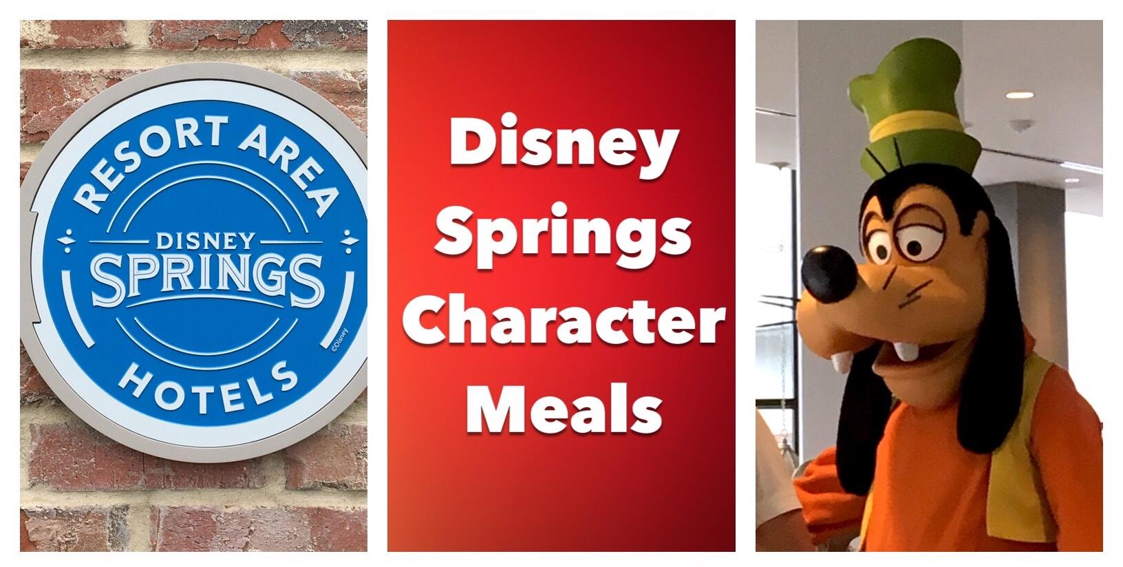 Disney Character Breakfasts at Disney Springs Resort Area Hotels / Disney World