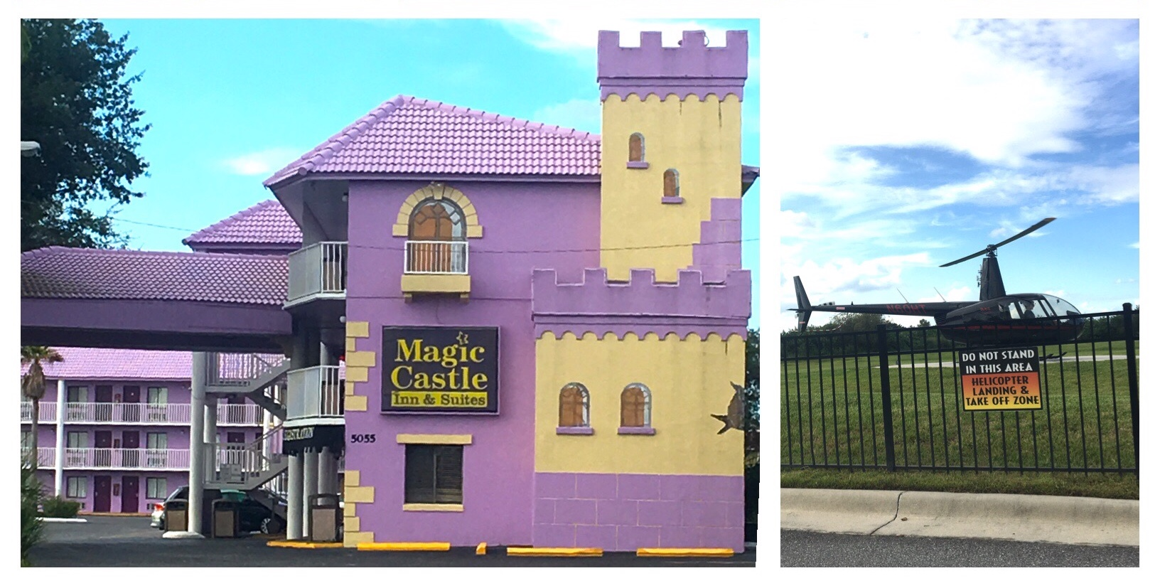 The Magic Castle Inn and Suites and helicopter tour as seen in The Florida Project.