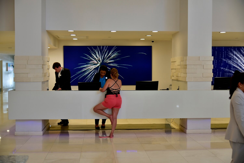 B Resort and Spa Check-In Desk
