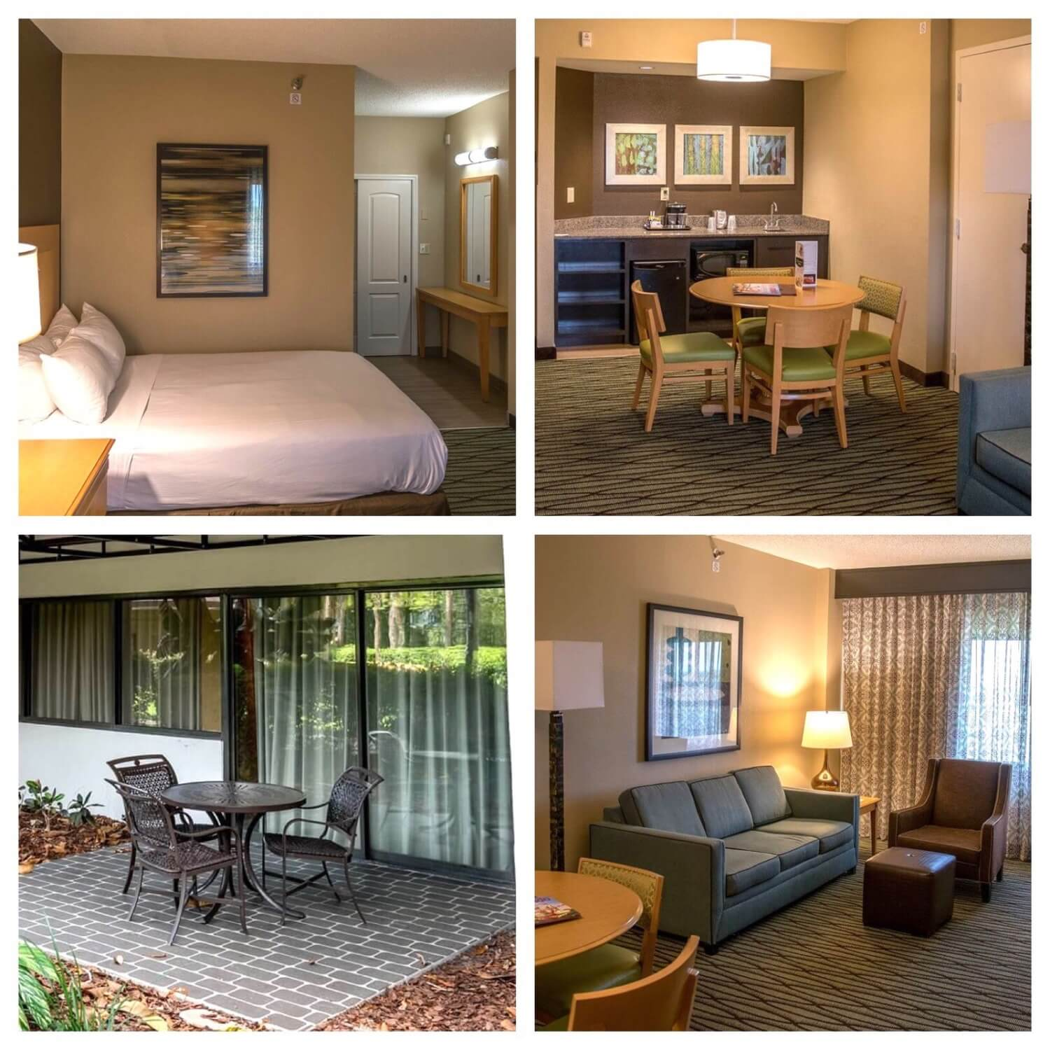 Guest rooms at the DoubleTree Suites by Hilton Orlando / Disney Springs Area hotel - Walt Disney World Resort - Orlando