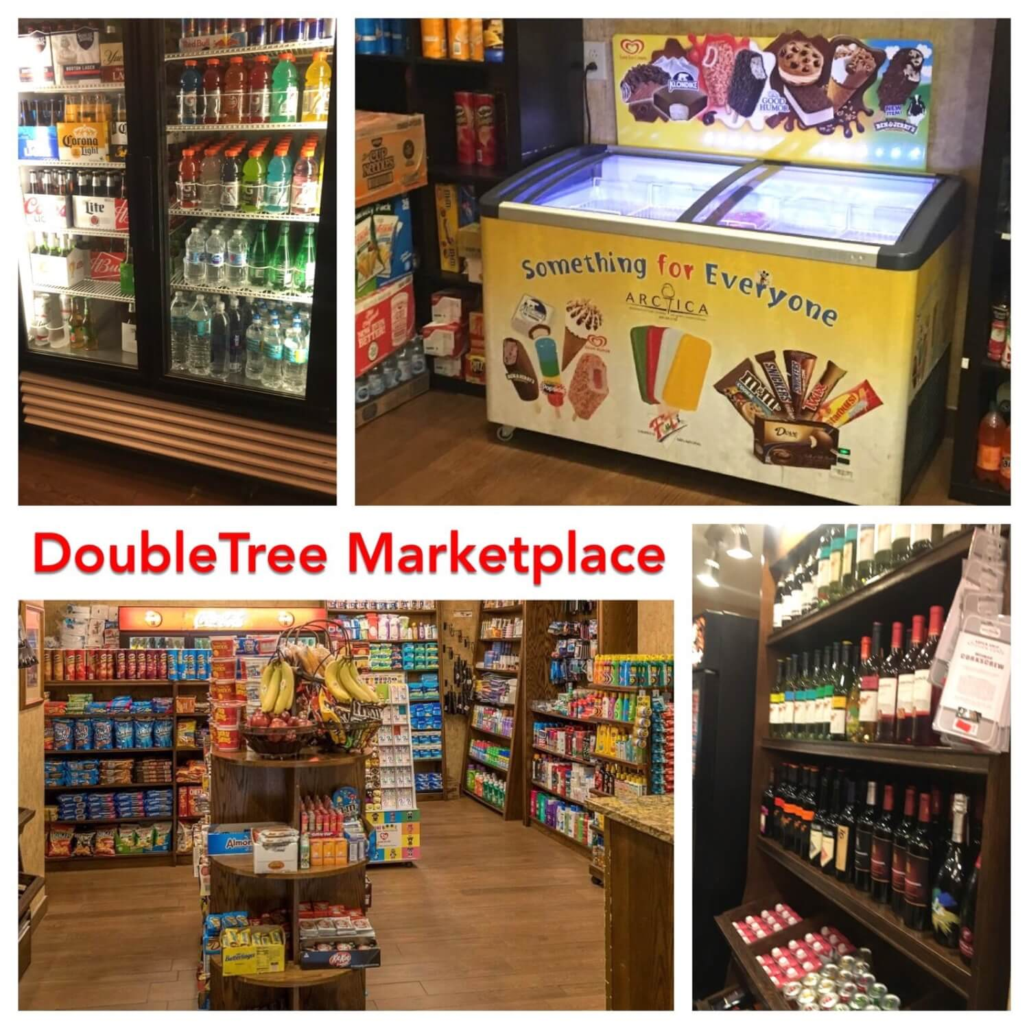 Disney gifts, snacks, beverages, alcohol and sundries available in the lobby at DoubleTree Suites by Hilton Orlando - - Disney Springs Area hotel.