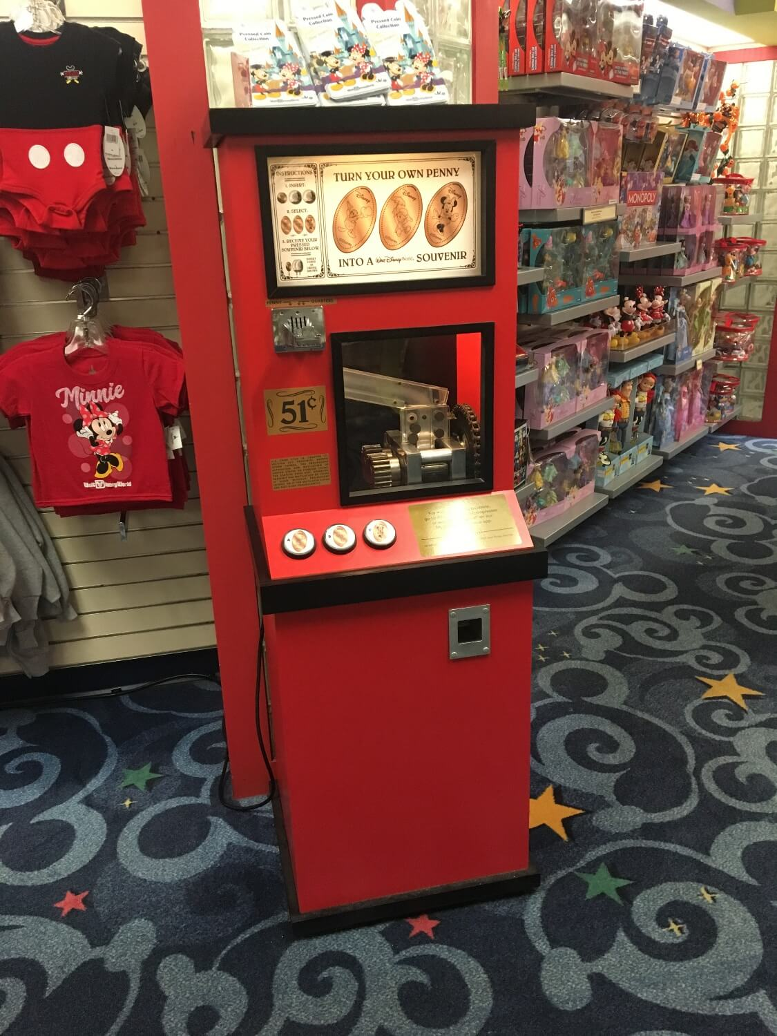 Pressed Penny machine at DoubleTree Suites by Hilton Orlando - Disney Springs Resort Area