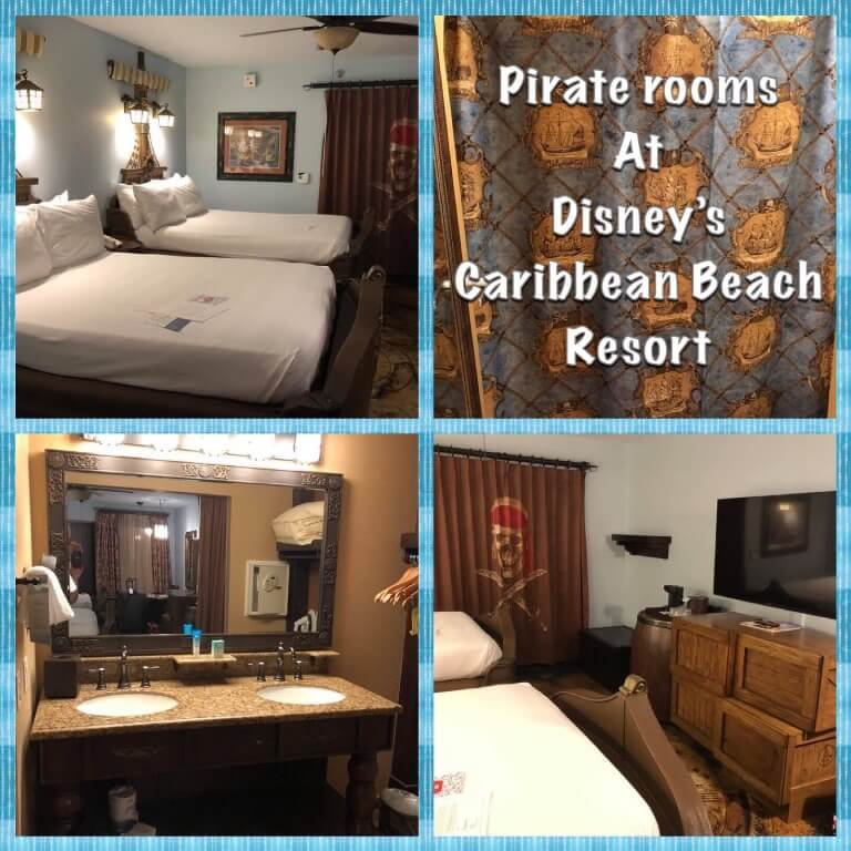 Review of the Pirate Rooms at Disney's Caribbean Beach Resort / Walt Disney World Resort - Florida.
