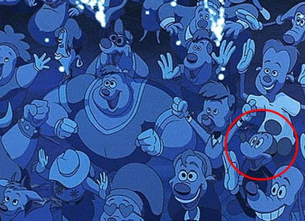 Mickey Mouse in the concert crowd on A Goofy Movie.