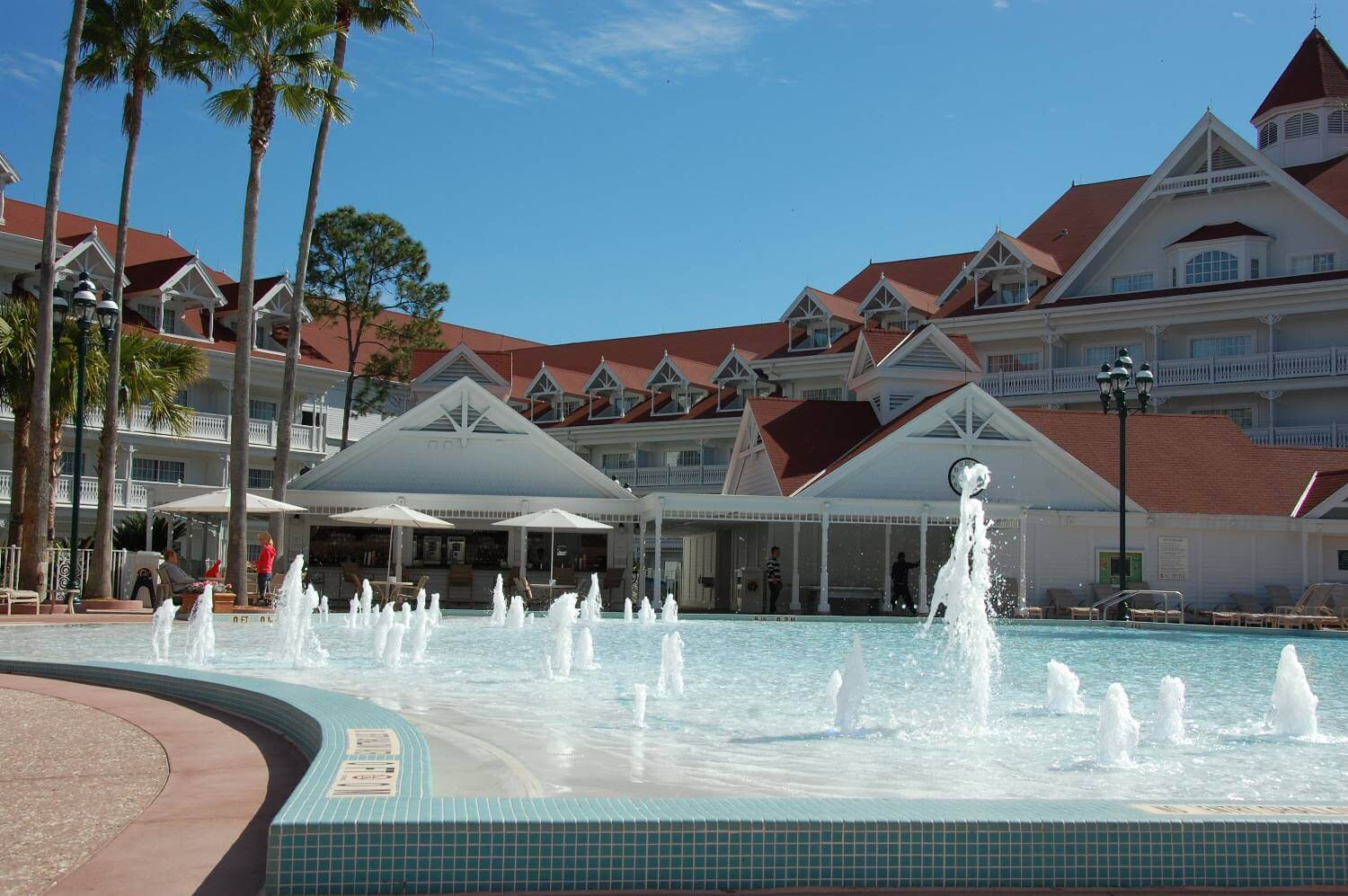 The Courtyard Pool is one of two feature pools at the Grand Floridian