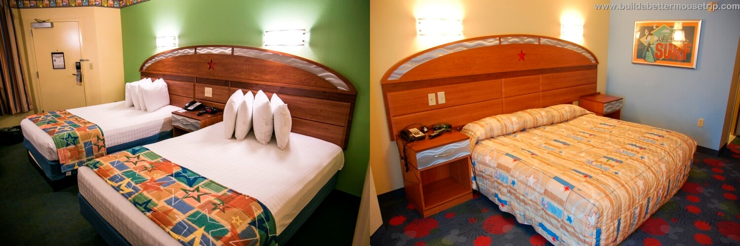 Disney's All Star Resorts have standard and King Bed rooms